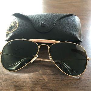 RayBan Outdoorsman II aviator sunglasses